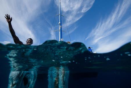 underwater photos with Panache Sailing in Playa Flamingo, Costa Rica