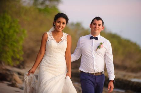 Wedding photos on Langosta beach, Costa Rica