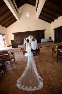 Wedding ceremony at the Hacienda Pinilla Chapel in Costa Rica