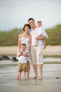 Family photography at JW Marriott in Guanacaste, Costa Rica
