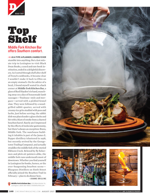 Middle Fork Kitchen Bar for Cincinnati Magazine