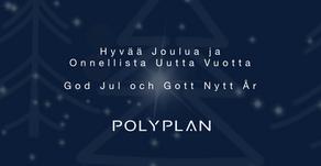 Polyplan toivottaa kaikille hyvää joulua !  ⌂  Polyplan önskar alla en god jul!