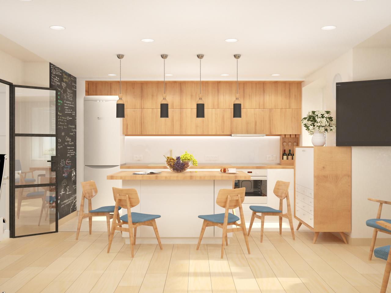 Гостиная Кухня