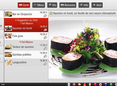 Carte Restaurant Virtuelle