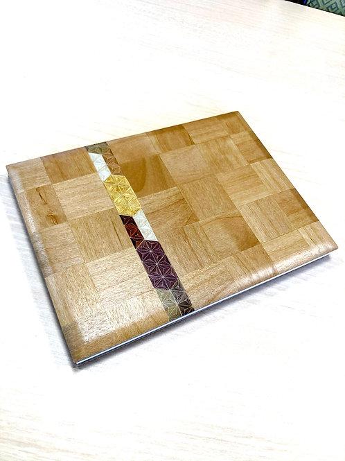 【残りわずか】妙輪寺特製 白板市松模様+麻の葉ストライプ見開きご朱印帳