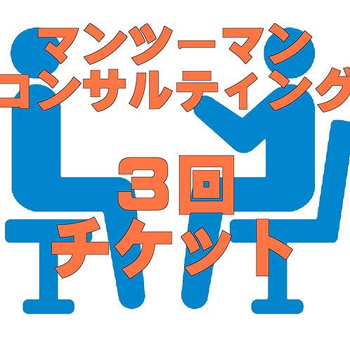 マンツーマンコンサルティングサポート【3回チケット】