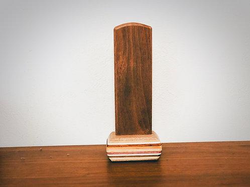台座が寄木細工なシンプルな位牌