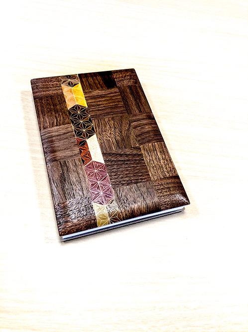 妙輪寺特製 黒板市松模様+麻の葉ストライプご朱印帳