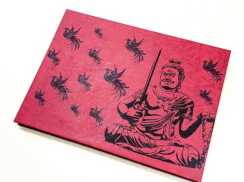 妙輪寺特製 見開き「不動明王」ご朱印帳キット