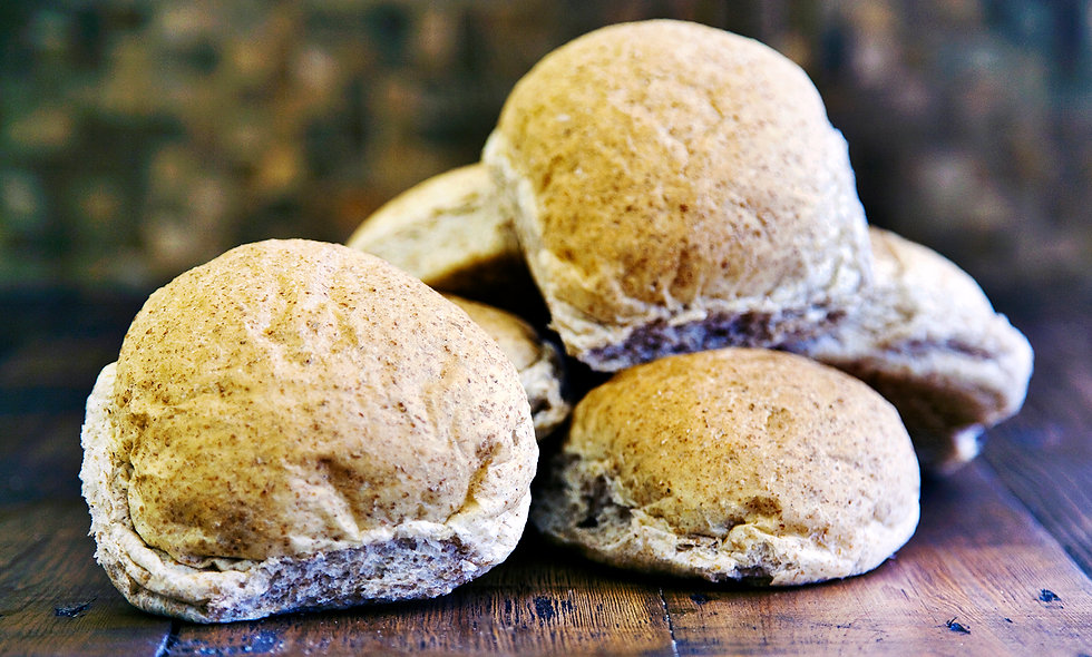 Wholemeal Baps (Pack of 4)