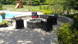Fire pit, Paver Patio, and Retaining Wall