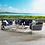Thumbnail: Stance 4 Piece Outdoor Patio Aluminum Sectional Sofa Set