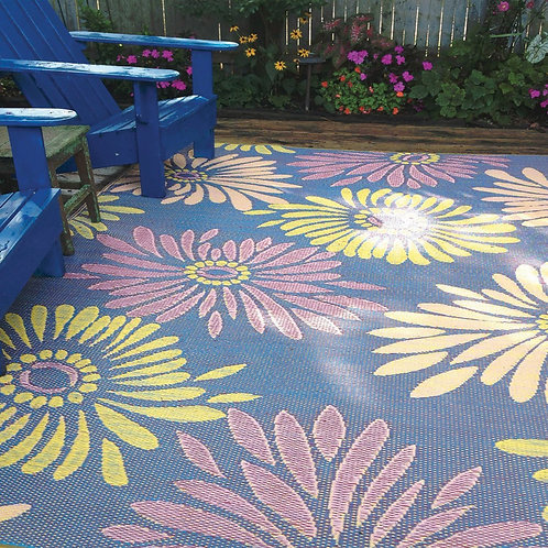Daisy Indoor/Outdoor Floor Mat 5x8 Violet