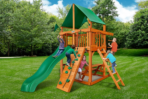 Chateau Tower w/ Deluxe Green Vinyl Canopy