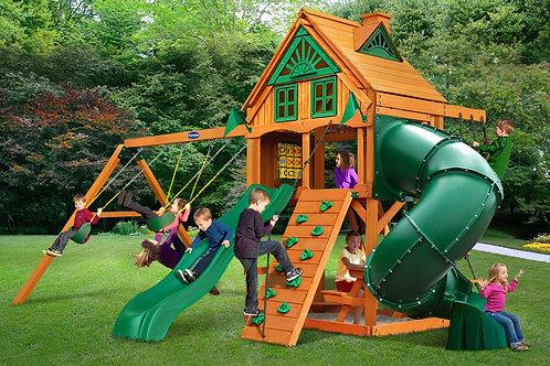 Horizon W/ Tube Slide & Treehouse Wood Roof