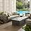Thumbnail: Manteo Rustic Coastal Outdoor Patio Sunbrella® 3 Piece Set