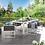 Thumbnail: Stance 7 Piece Outdoor Patio Aluminum Dining Set