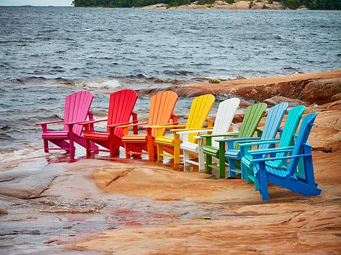 Coastal Upright Adirondack Chair