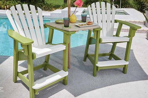 Coastal Counter Chairs w/ Tête-à-Tête Table Top