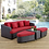 Thumbnail: Monterey 4 Piece Outdoor Patio Sofa Set