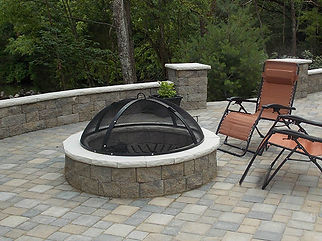 Paver patio, Retaining Wall, Fire pit
