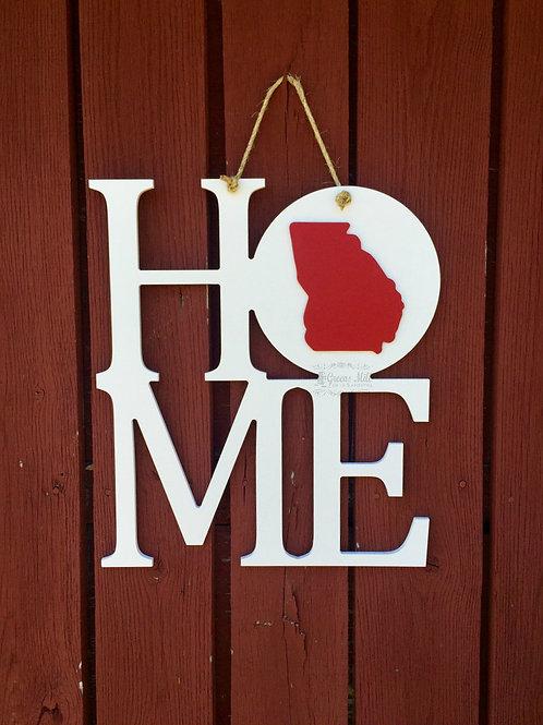 Home State Door Hanger