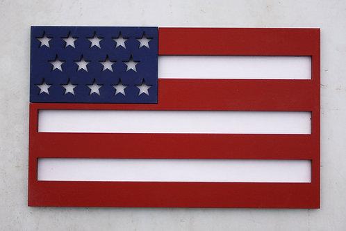 """American Flag Door Hanger """"Charm"""""""
