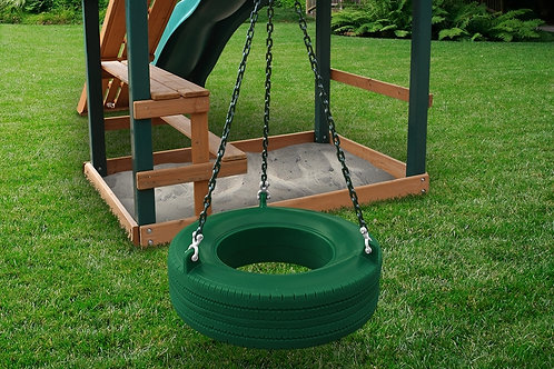 Turbo Tire Swing W Chain, Spring Clips and Swivel