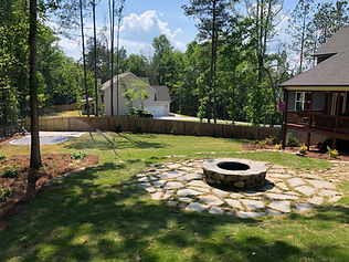 Firepits and paver patios for a relaxing evening by a fire