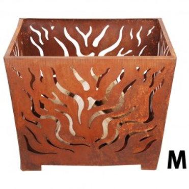 Fire Basket Flames-Laser cut Sheet Metal-Rust Finish