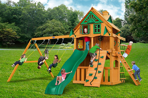 Horizon Clubhouse Standard Wood Roof W/ Treehouse and Fort Add-on