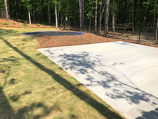 Concrete Basketball Pad