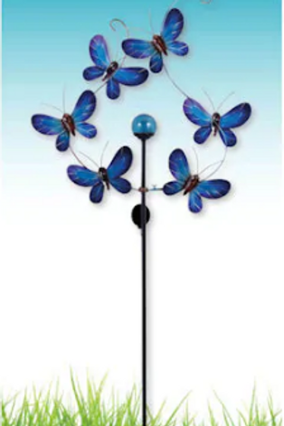 "Butterfly Solar Spinner 81"""