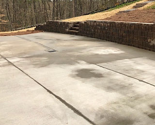 Poured Concrete and Retaining Wall with built in steps