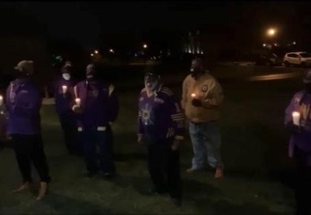 Brothers of Nu Upsilon demonstrate the 4th Cardinal principle of uplift