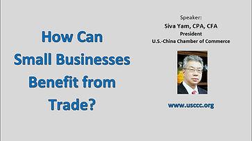 Siva Yam: Webinar - Small Business and Trade