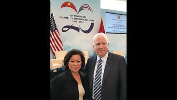 John McCain and Mai Hoang, July 30, 2015, Washington D.C.