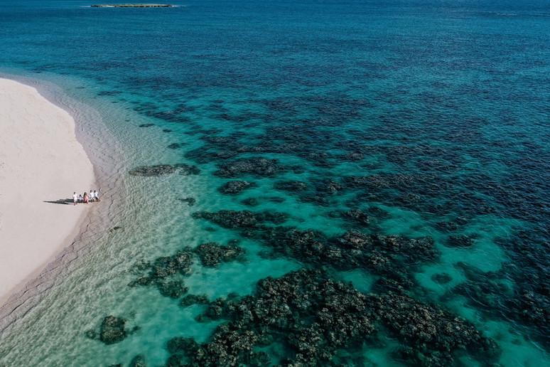 Aerial photo Lanikai family photography