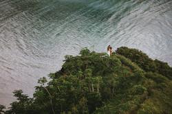 Oahu Hawaii Adventure Wedding Session Crouching Lion