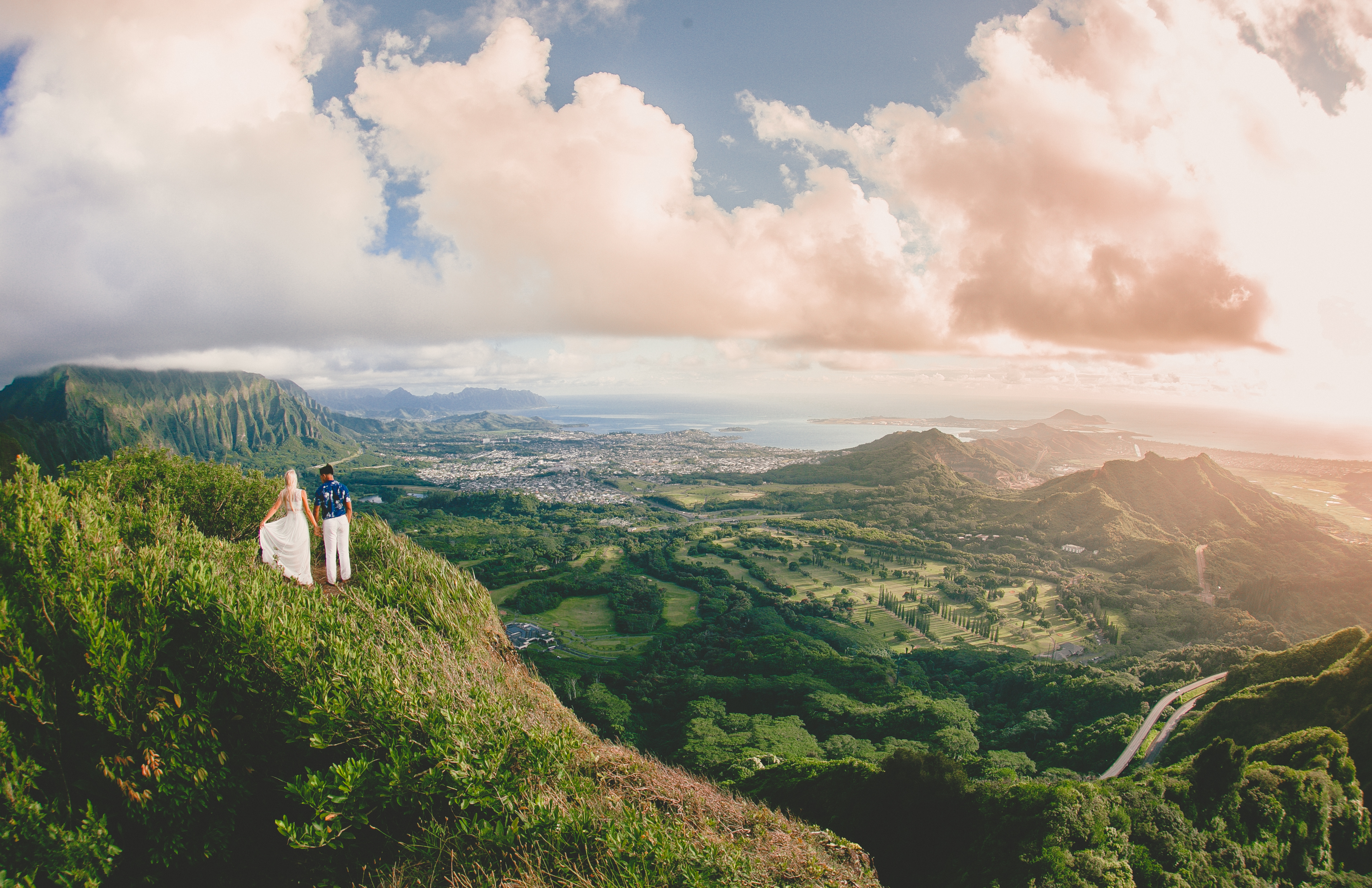 Pali Notches Oahu Adventure Wedding Photographer in Hawaii
