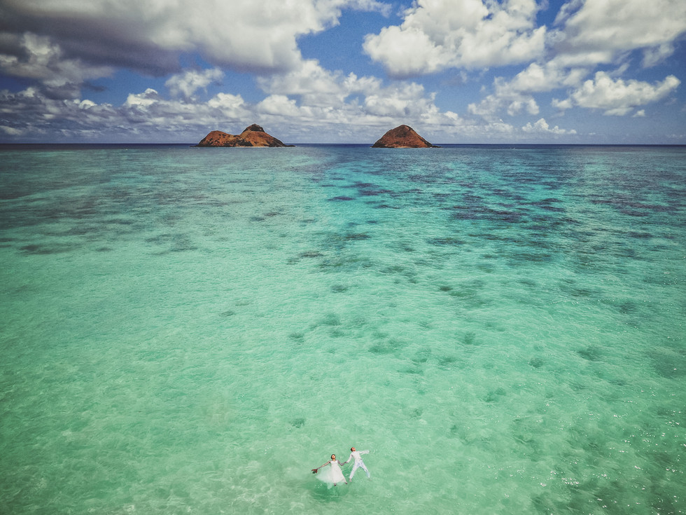 Lanikai Drone Wedding Photos