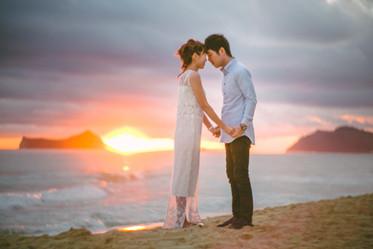 Engagement photography at sunrise
