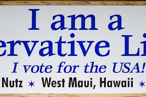 Conservative Liberal Sticker