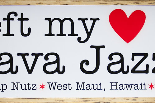"""I left my Heart at Java Jazz"" Sticker"