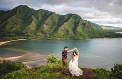 Crouching Lion Adventure Wedding Photos on Oahu