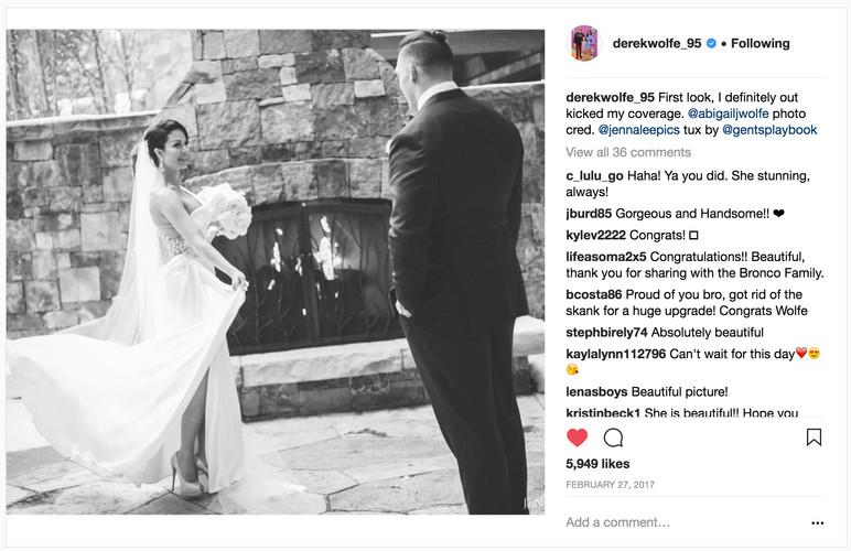 Derek Wolfe of the Denver Broncos marries the gorgeous Abigail Burrows...