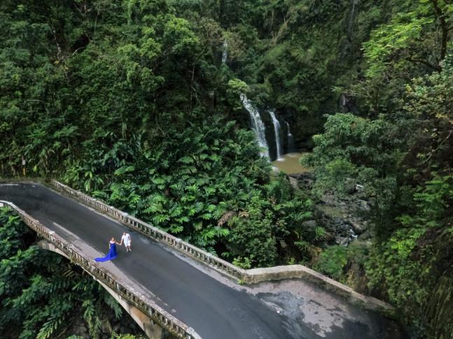 Maui drone photos Road to Hana