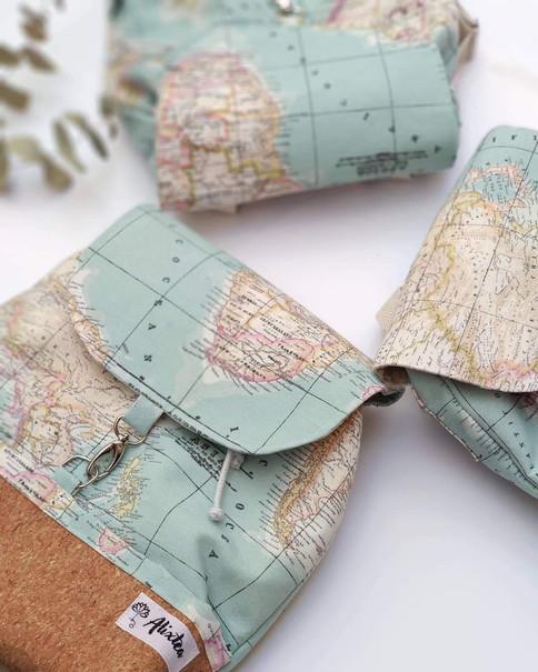 Mochila mapamundi