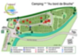 Plan détaillé du camping