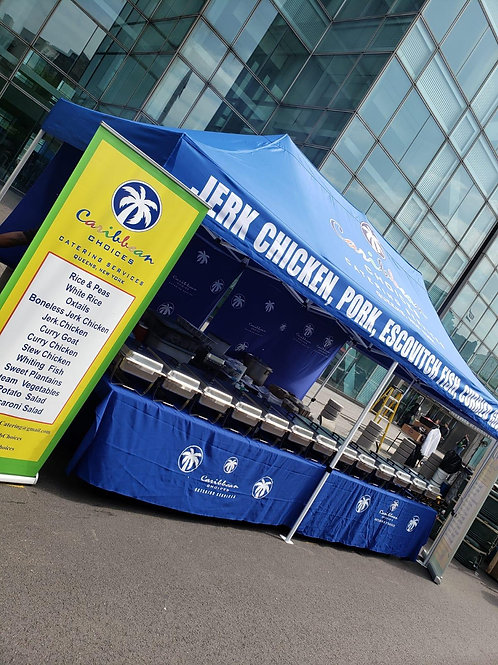 Tent - Branded with Roof & Retractable Banner (10'x10')